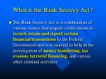 what is the bank secrecy act
