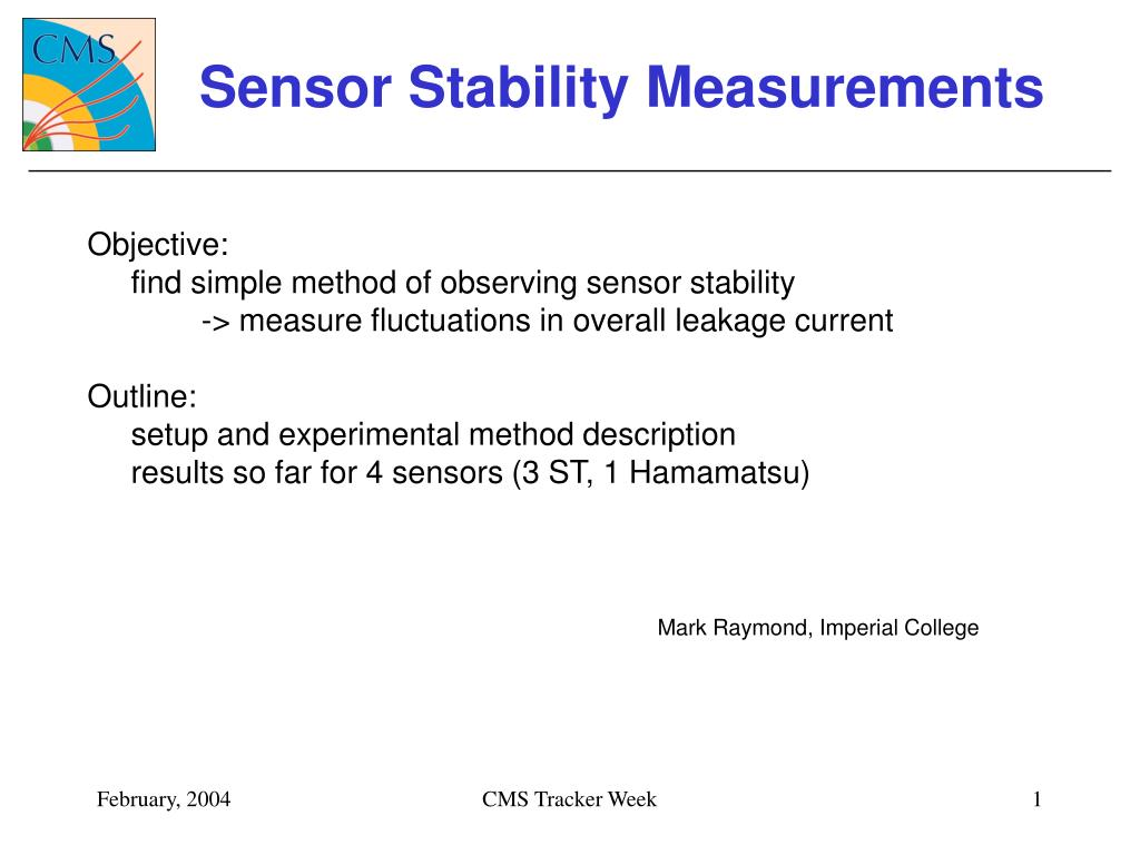 sensor stability measurements l.