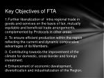 key objectives of fta