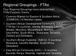 regional groupings ftas