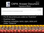 capa answer document