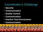 coordinator s challenge