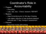 coordinator s role in accountability