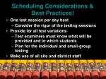 scheduling considerations best practices29