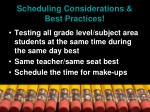 scheduling considerations best practices30
