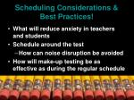 scheduling considerations best practices41
