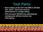 test parts
