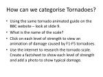 how can we categorise tornadoes