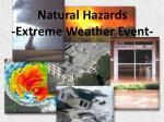 natural hazards extreme weather event