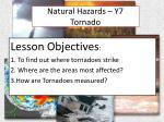 natural hazards y7 tornado