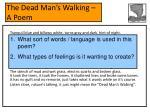 the dead man s walking a poem