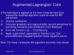 augmented lagrangian cont