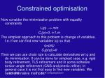 constrained optimisation