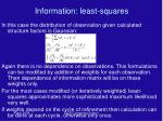 information least squares