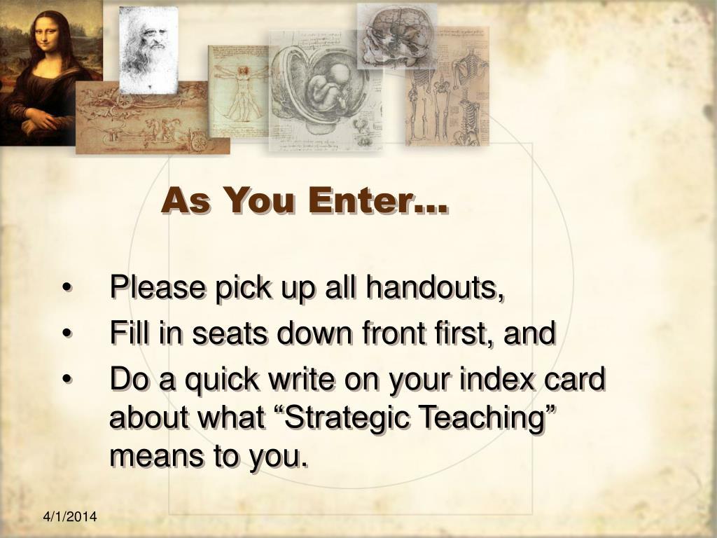 as you enter l.