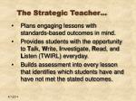 the strategic teacher19