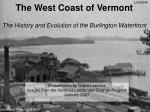 the west coast of vermont the history and evolution of the burlington waterfront