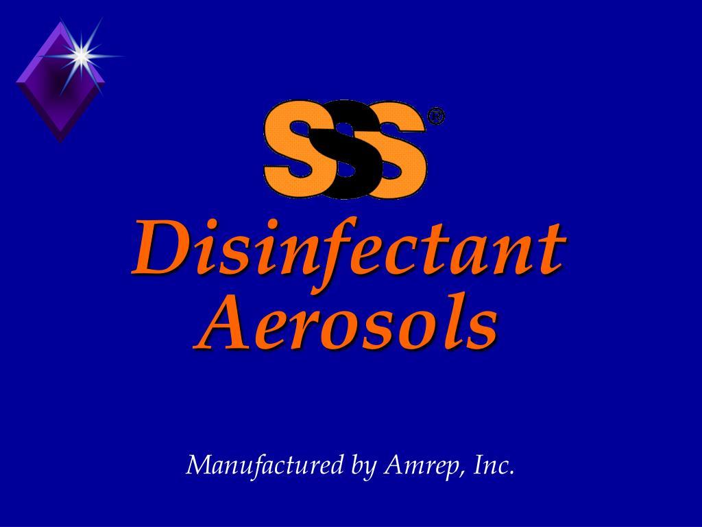 disinfectant aerosols l.