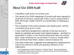 about our 2009 audit