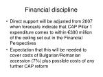 financial discipline
