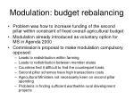 modulation budget rebalancing