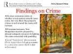 findings on crime
