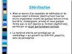 st rilisation