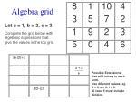 algebra grid