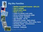 big sky families