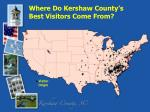 where do kershaw county s best visitors come from