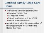 certified family child care home