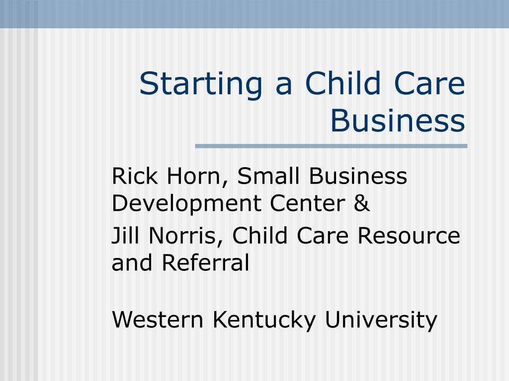starting a child care business l.
