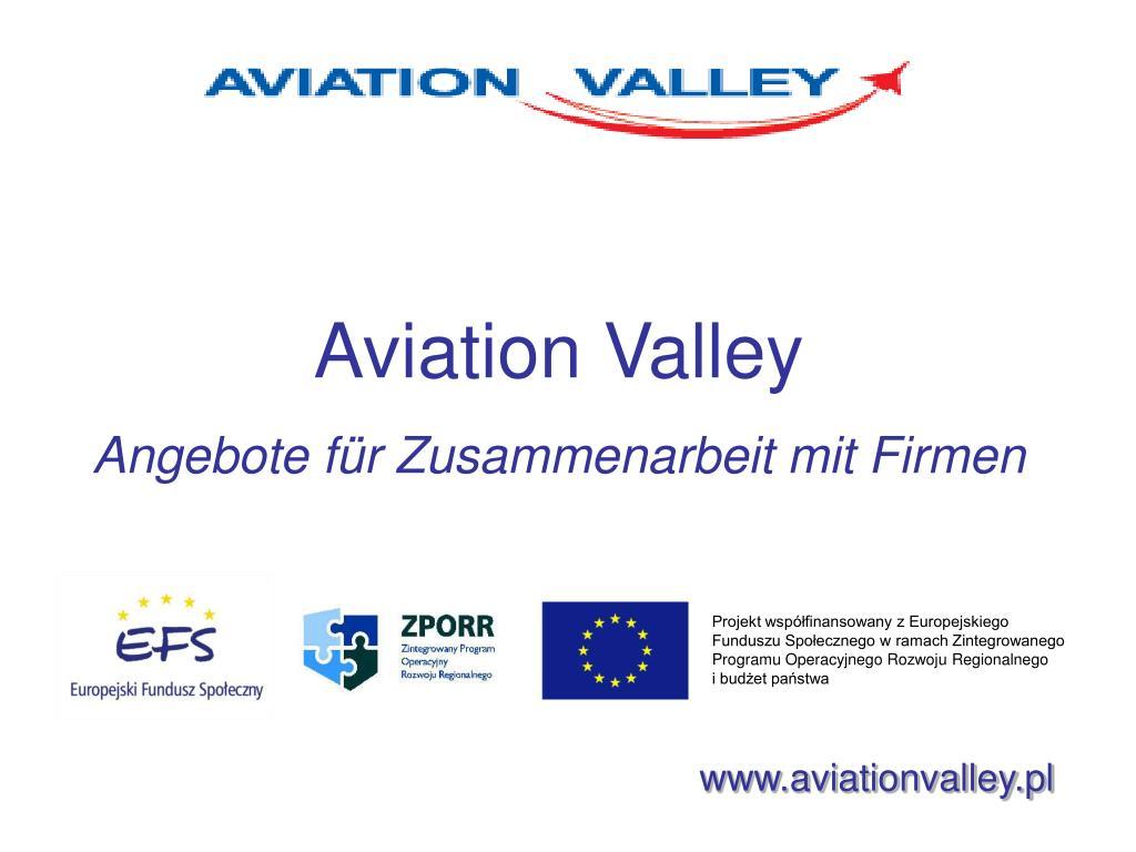aviation valley angebote f r zusammenarbeit mit firmen l.
