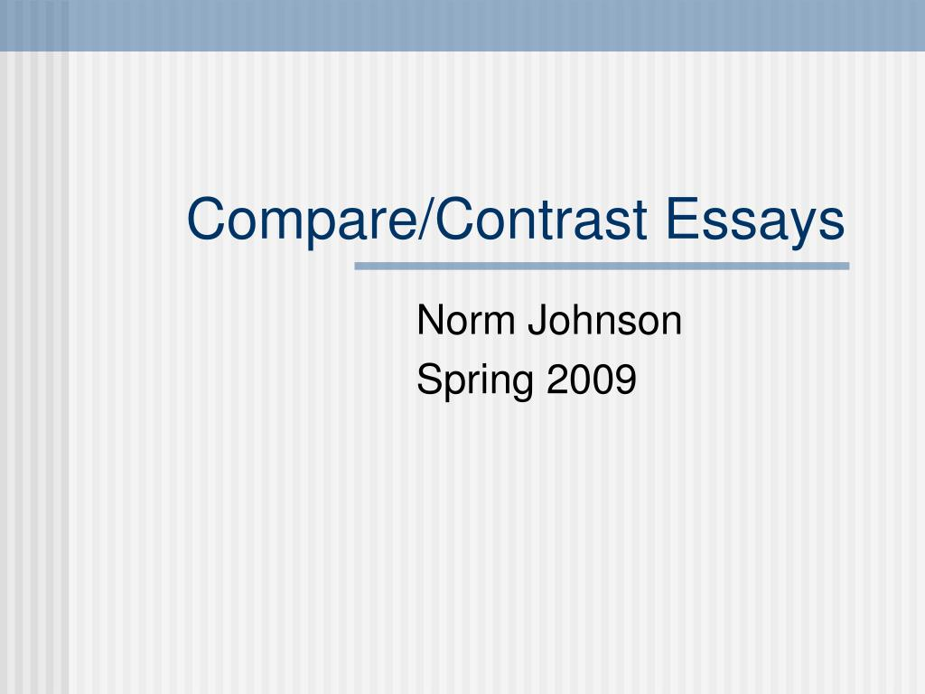 compare contrast essays l.