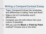 writing a compare contrast essay