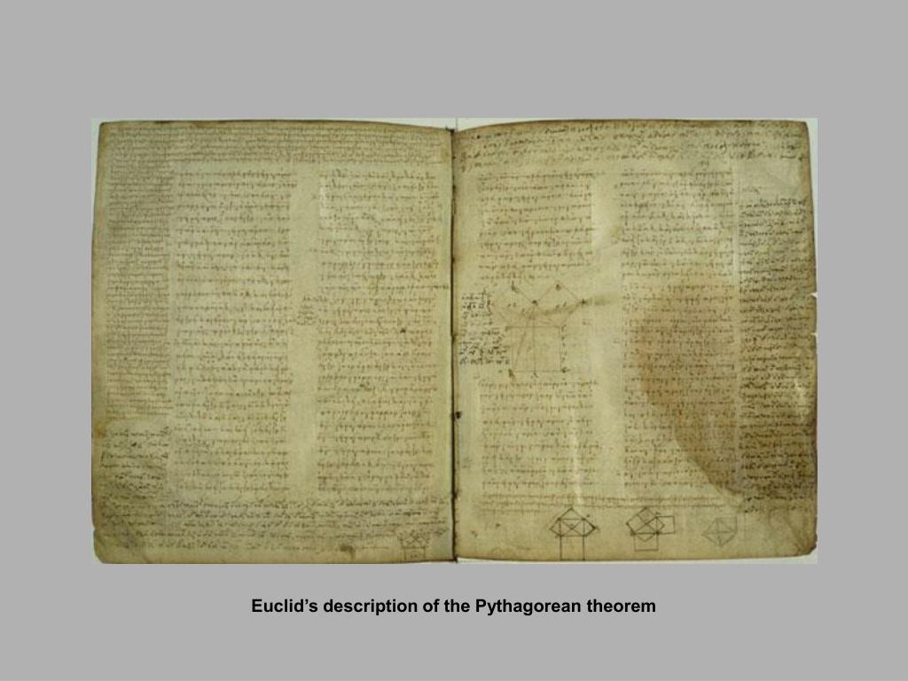Euclid's description of the Pythagorean theorem
