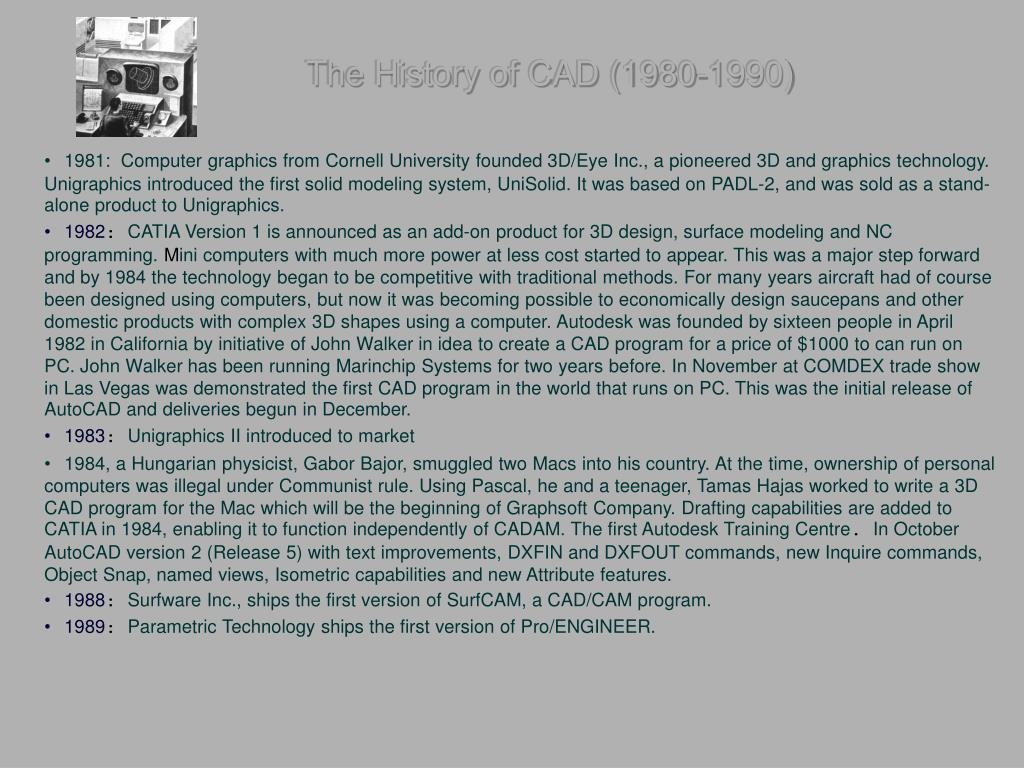 The History of CAD (1980-1990)