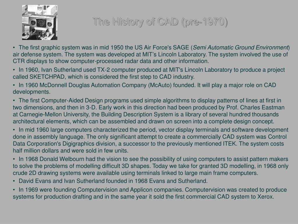 The History of CAD (pre-1970)