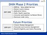 dhin phase 2 priorities