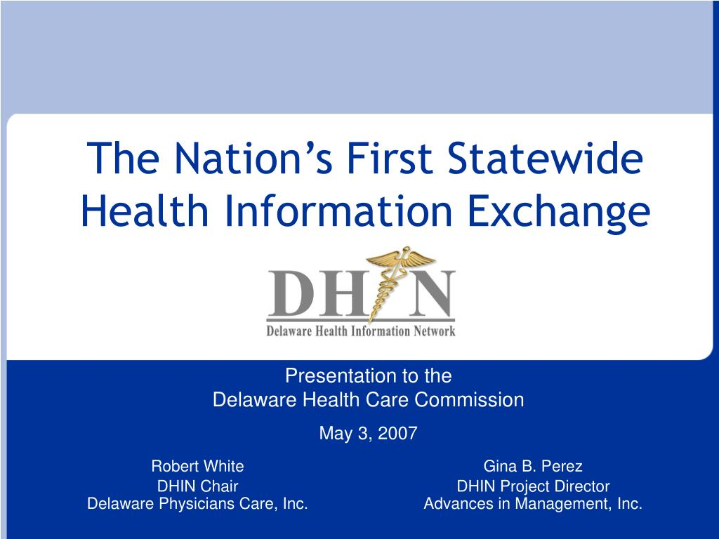 the nation s first statewide health information exchange l.