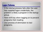 logon failures