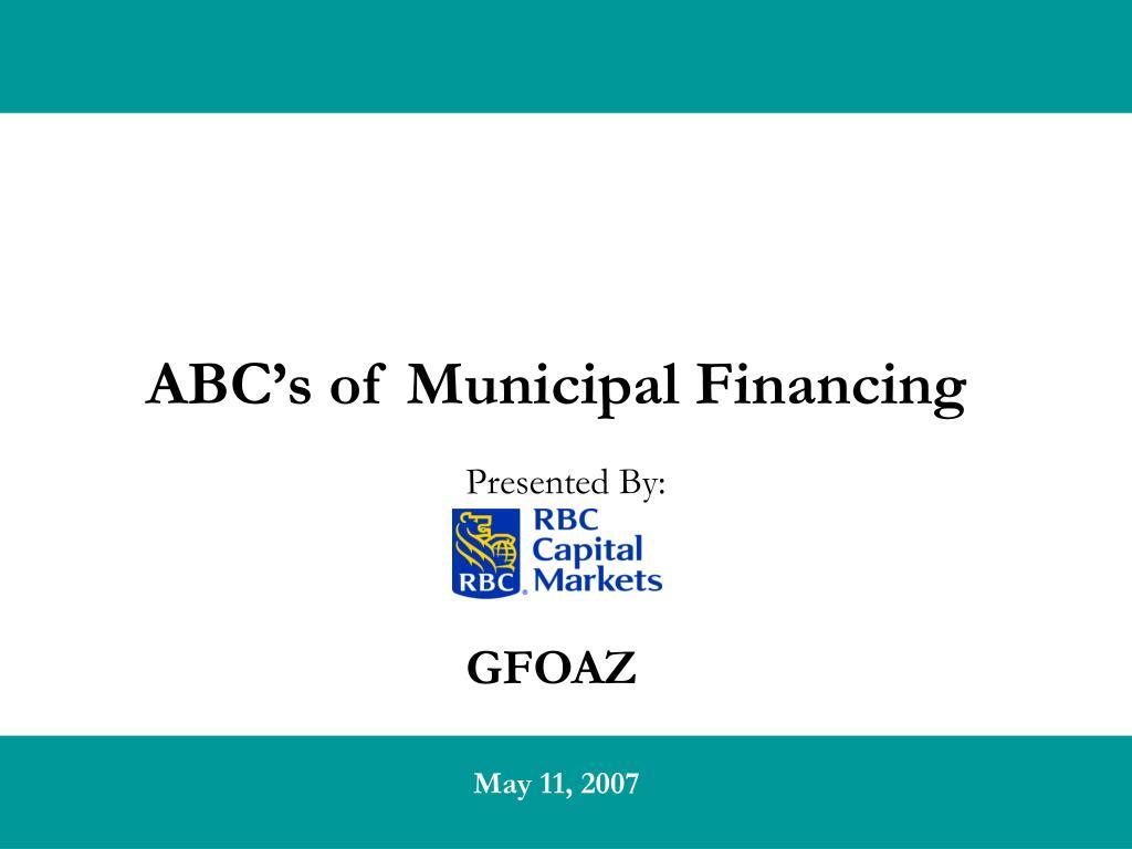 abc s of municipal financing l.