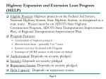 highway expansion and extension loan program help