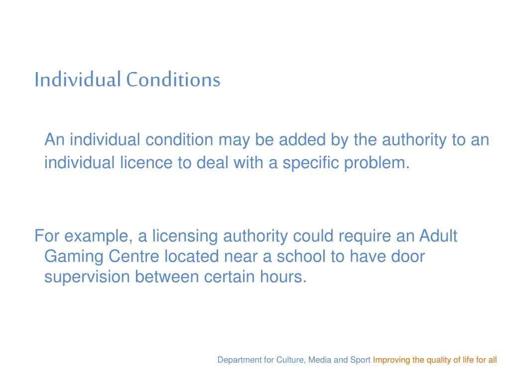Individual Conditions