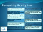 recognizing hearing loss