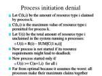 process initiation denial