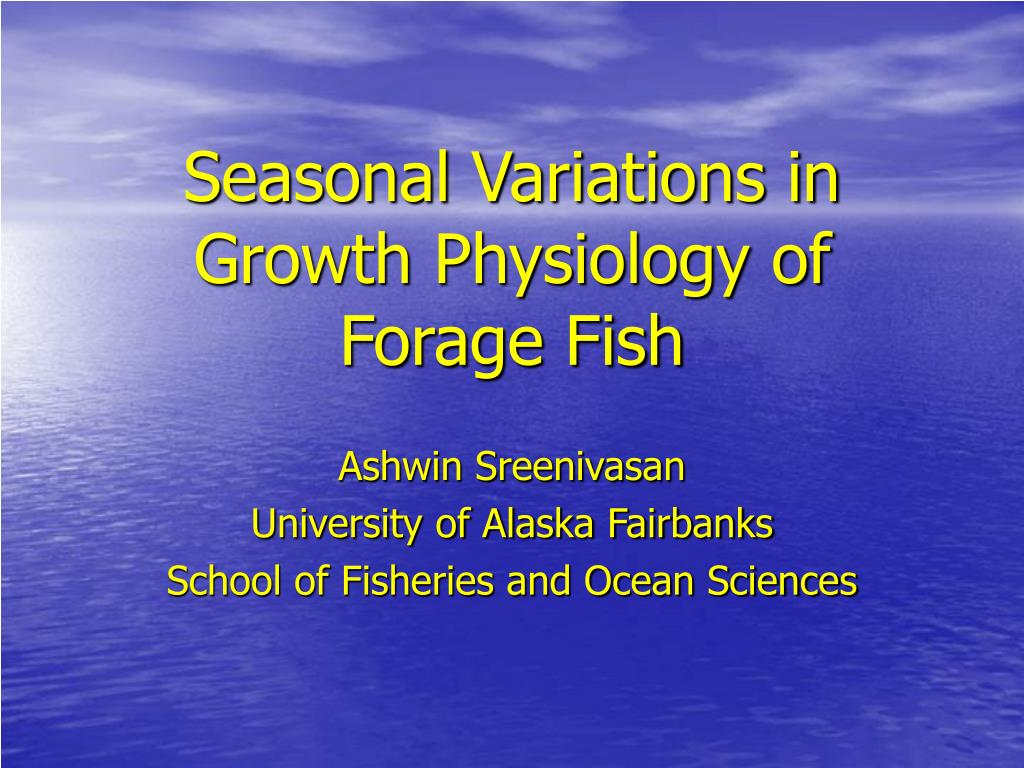 seasonal variations in growth physiology of forage fish l.