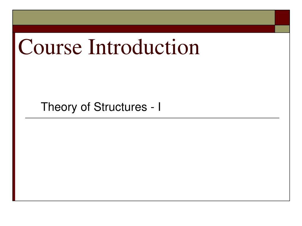 course introduction l.
