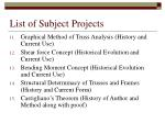list of subject projects12
