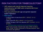 risk factors for trabeculectomy